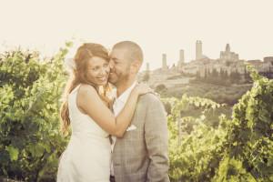 Fotografo per matrimonio San Gimignano